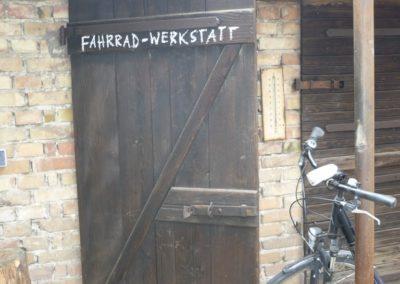 Eingang Fahrradwerkstatt